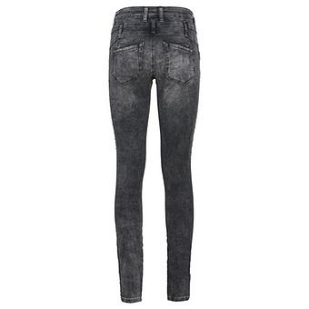 Sweat-Jeans mit Glitzerprint 80cm, dark grey