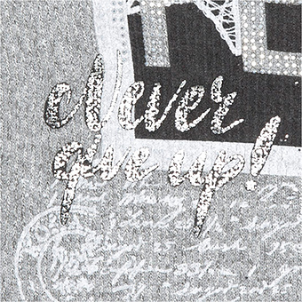 Schal 'Peace', grau-melange