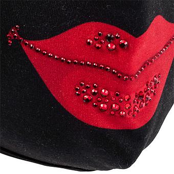 Mund- und Nasenmaske, schwarz-rot