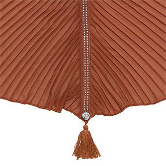 Schal mit Plissee, outback