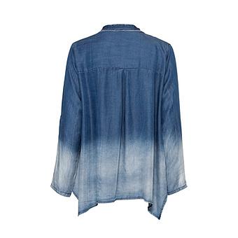 Bluse mit Leo-Print, blue
