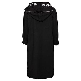 Mantel mit offener Front, schwarz