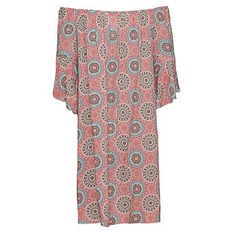 Kleid im Alloverprint, rosenholz