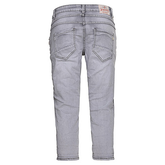 Capri-Hose mit Ziernaht, light grey