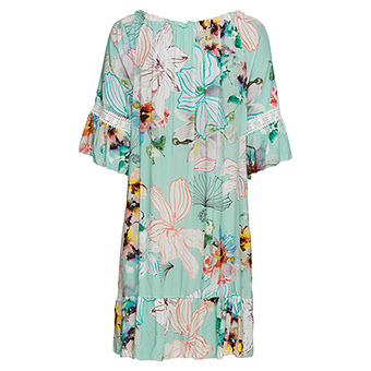Kleid im Alloverprint, mint