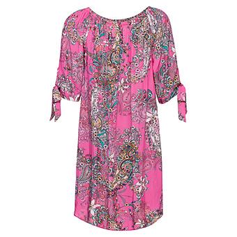 Kleid mit Carmen-Ausschnitt, pink