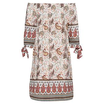 Kleid mit Carmen-Ausschnitt, weiß