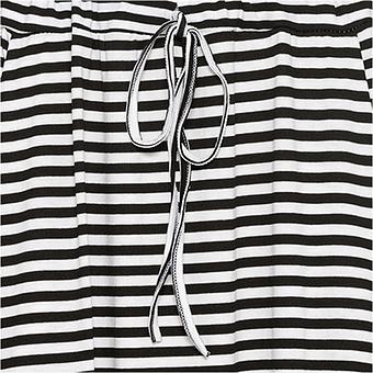 Jersey-Rock mit Streifen, schwarz