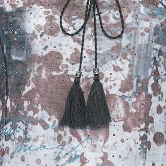 Blusenshirt im Alloverprint, siena