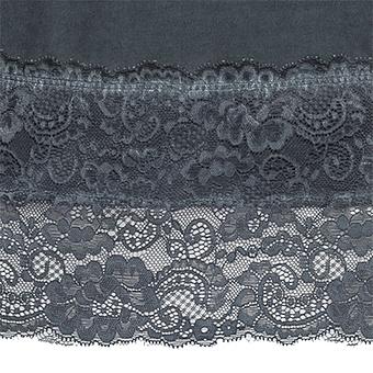 Basic Top aus Baumwolle, tinte
