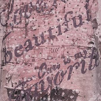 Blusenshirt mit Frontprint, pearl