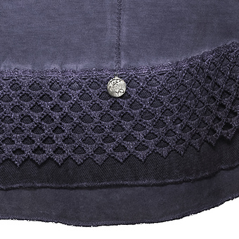 Basic Top mit Pailletten, deep violet