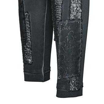 Baumwoll-Legging mit Pailletten 72cm, tinte