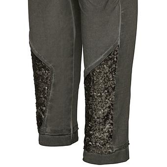 Baumwoll-Leggings mit Pailletten 72cm, olio