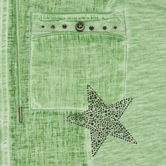Bluse mit Knopf-Details, tee