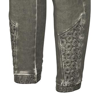 Baumwoll-Leggings mit Lochstickerei 64cm, olio