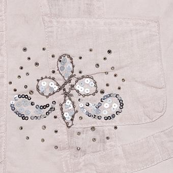 Jacke mit Leinen-Details, rosenholz