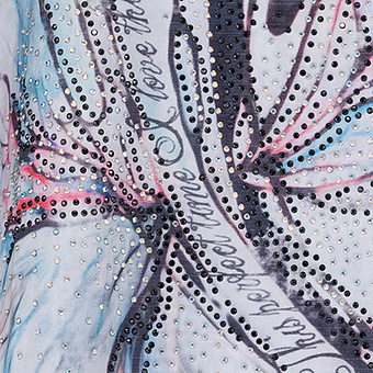 Blusenshirt mit Frontprint 3/4 Arm, moonlight