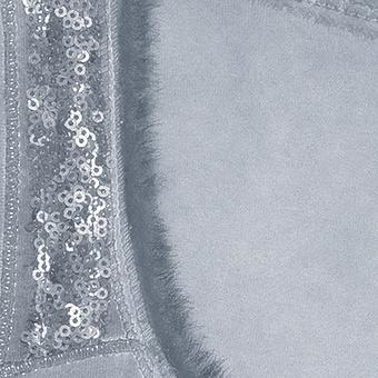 Basic Top mit Pailletten 70cm, moonlight