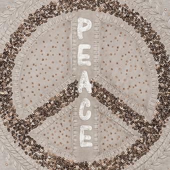 Kapuzenshirt mit Peace-Zeichen, treibholz