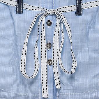 Bluse mit Schnürung, blau