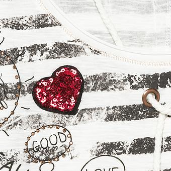 Shirt im Maritim-Style, offwhite-siena