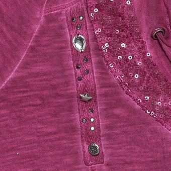 Offene Shirtjacke mit Pailletten, magenta