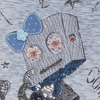 Top mit Roboter und Hund, moonlight