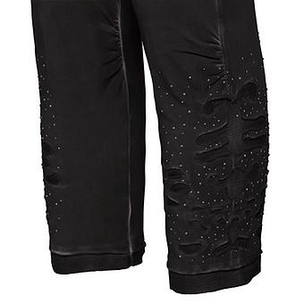 Baumwoll-Leggings mit Mesh 55cm, schwarz