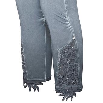 Baumwoll-Leggings mit Spitze 55cm, night