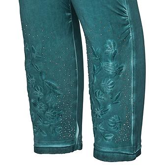 Baumwoll-Leggings mit Stickerei 55cm, opal