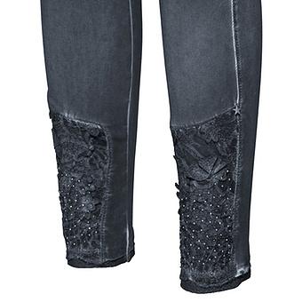 Baumwoll-Leggings mit Spitze 72cm, night