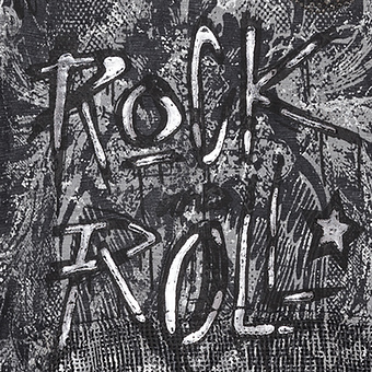 Kapuzenkleid mit Rock'n'Roll-Motiv, magnet