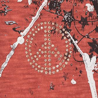 Kapuzenshirt mit Frontverzierung, redfox