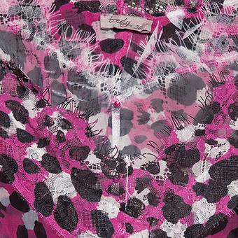 Crash-Bluse im Animalprint, pinkberry
