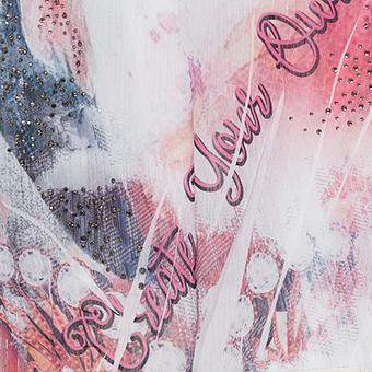 Chiffontunika im Digitalprint, blutorange
