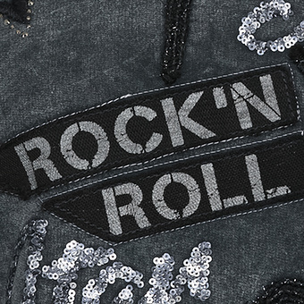 Pullover mit 'Rock'n Roll'-Patch, magnet stonewashed
