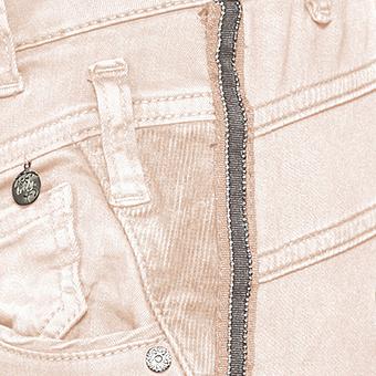 Sweat-Jeans mit Galonstreifen 80cm, hellrosé