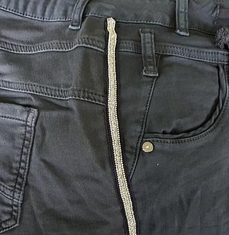 Sweat-Jeans mit Galonstreifen 80cm, navy
