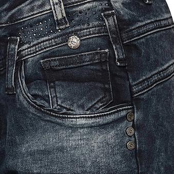 Jeans mit Gltzersteinchen 80cm, denim