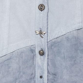 Bluse mit Wildleder-Optik und anhängern, moonlight