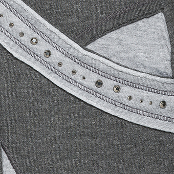 Jacke mit Glitzersteinchen, grau meliert