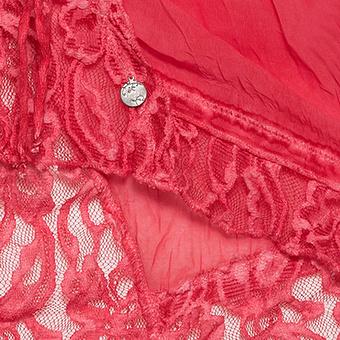 Crash-Bluse mit Spitze und Pailletten, lipstick
