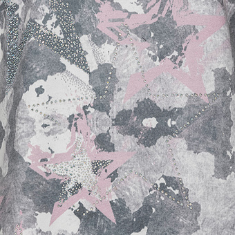 Sweaty im Camouflage-Look mit Sternen, rosenholz