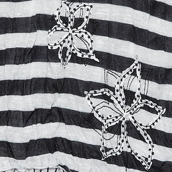 Top mit Streifen, schwarz-offwhite