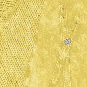 Top mit Loch-Optik, lemon