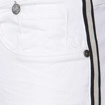 Hose mit Galonstreifen 80cm, offwhite