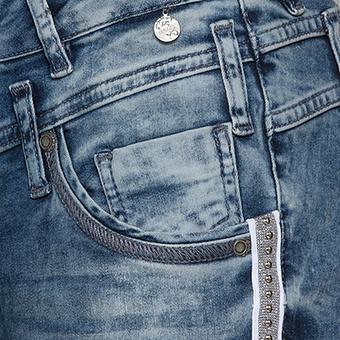 Jeans mit Galonstreifen 80cm, denim