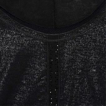 Basic Shirt mit Metallic-Optik, schwarz