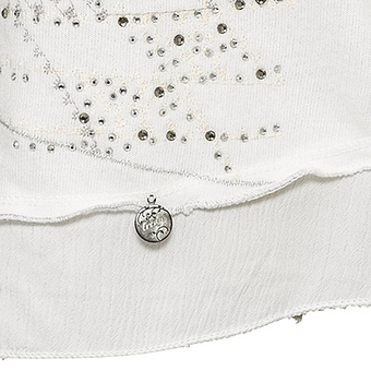 Sweat-Pullover mit Front-Design, offwhite